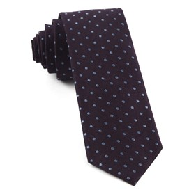 Dotted Dots Eggplant Ties
