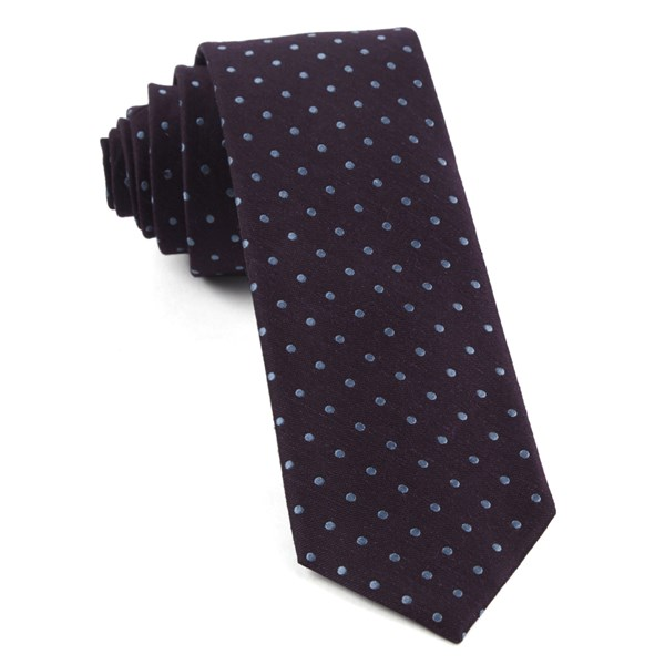 Eggplant Dotted Dots Tie