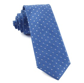 Light Cobalt Blue Dotted Dots ties