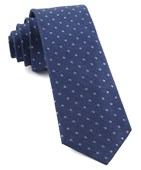 Ties - Dotted Dots - Classic Blue
