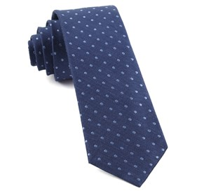 Classic Blue Dotted Dots ties