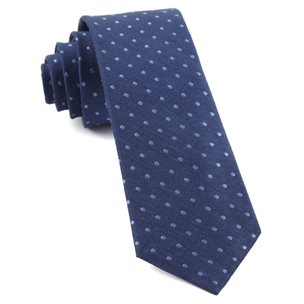 Classic Blue Dotted Dots Tie