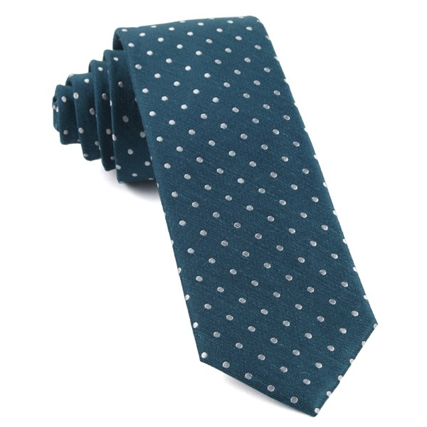 Teal Dotted Dots Tie