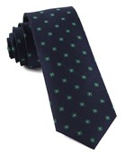 Ties - Primrose Flowers - Kelly Green