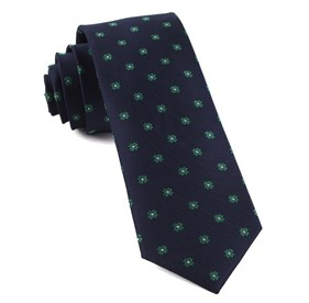 Primrose Flowers Kelly Green Ties