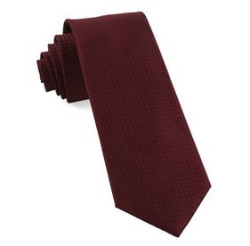 Burgundy Check Mates ties