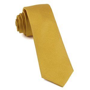 grosgrain solid gold ties