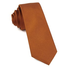 Burnt Orange Grosgrain Solid ties