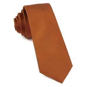 grosgrain solid burnt orange ties