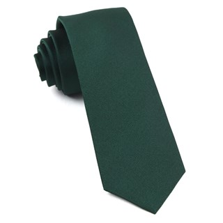 Grosgrain Solid Hunter Tie