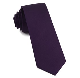 Grosgrain Solid Deep Eggplant Ties