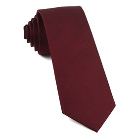 Burgundy Grosgrain Solid ties