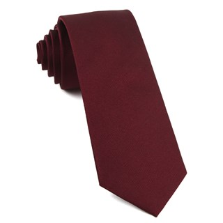 grosgrain solid burgundy ties
