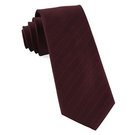 Herringbone Vow Burgundy Ties
