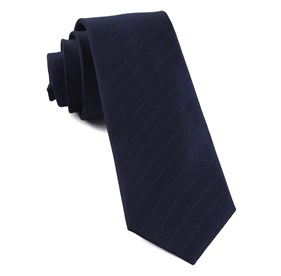 Navy Herringbone Vow boys ties