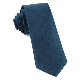 Herringbone Vow Teal Ties