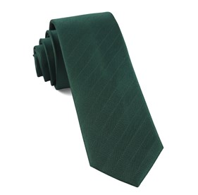 Herringbone Vow Hunter Green Ties