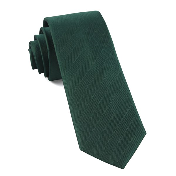 Hunter Green Herringbone Vow Tie