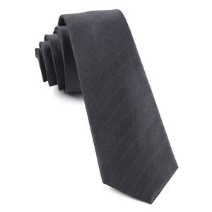 herringbone vow charcoal ties