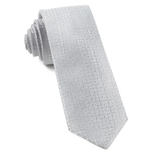 opulent light silver ties