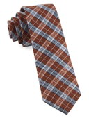 Ties - Emerson Plaid - Orange