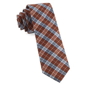 Emerson Plaid Orange Ties