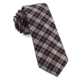 Wine Emerson Plaid ties