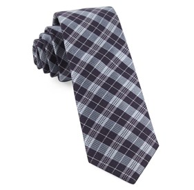Emerson Plaid Eggplant Ties