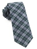Ties - Emerson Plaid - Hunter Green