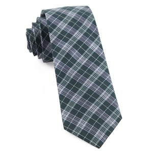 emerson plaid hunter green ties