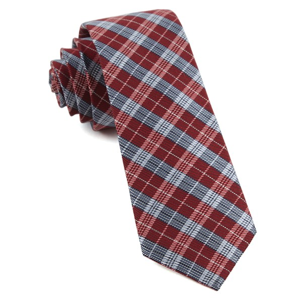 Red Emerson Plaid Tie