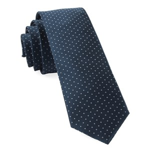 mini dots true navy ties