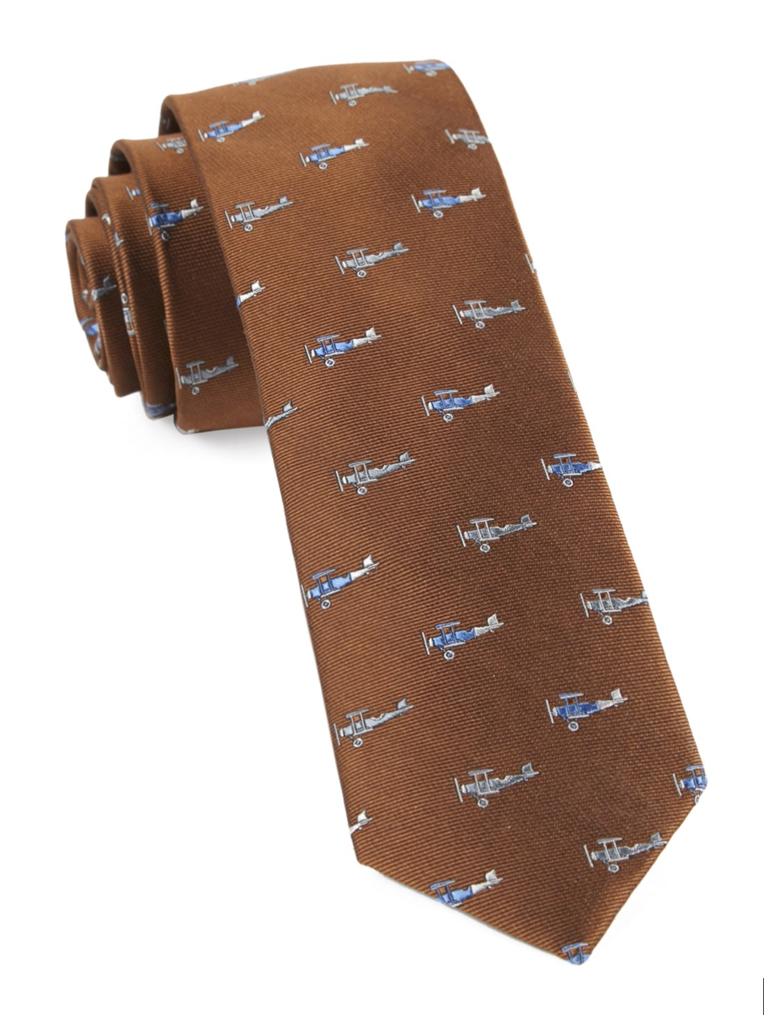 Linen Slim necktie - White polka dots on light orange plain weave - Notch OJIN Notch V674EawmS