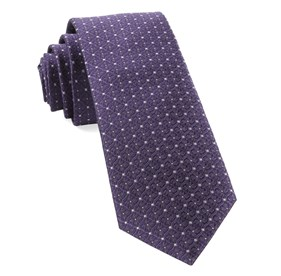 Medallion Lane Eggplant Ties