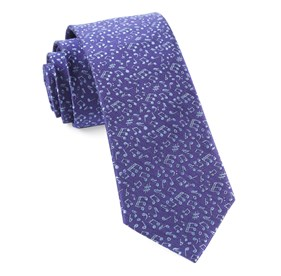 Music Notes Purple Ties