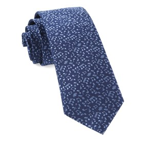 Music Notes Navy Ties