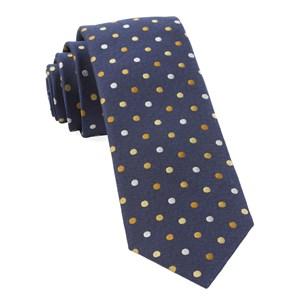 spree dots yellow ties