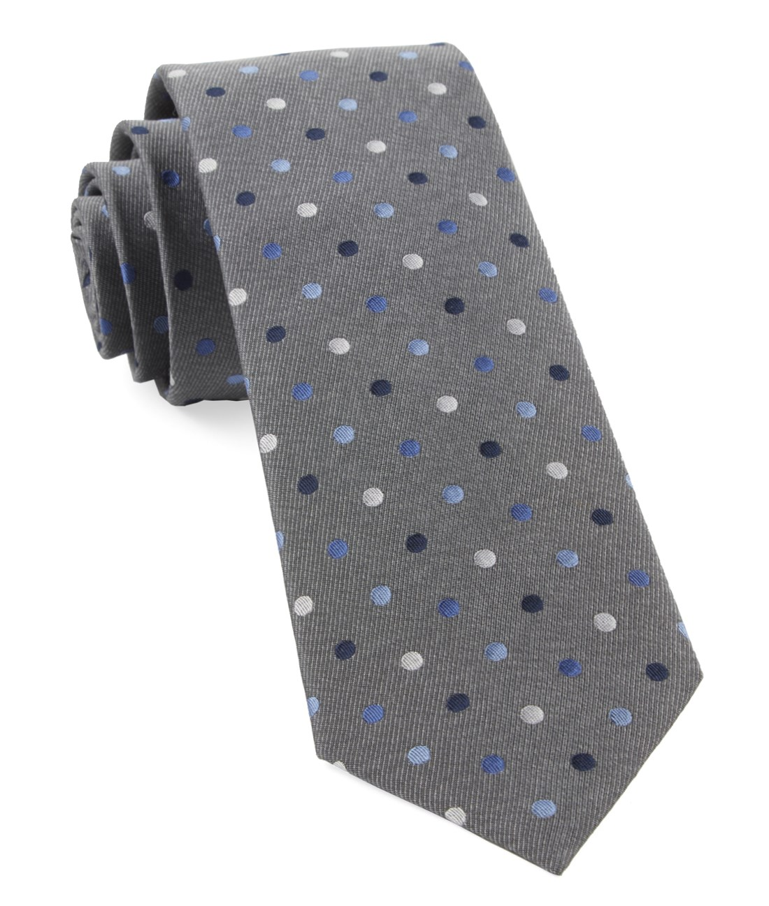"Spree Dots - Grey - 3"" x 58"" - Ties"