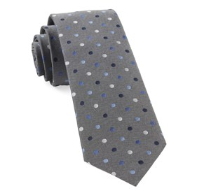 Grey Spree Dots ties