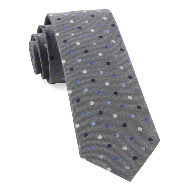 Grey Spree Dots Tie