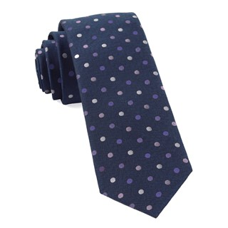 Spree Dots Purples Tie