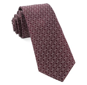 Triad Burgundy Ties