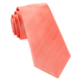 herringbone vow coral ties