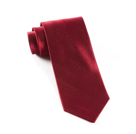 Herringbone Burgundy Ties