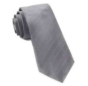 Grey Herringbone Vow ties