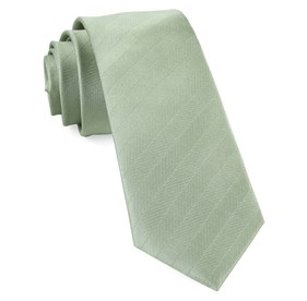Sage Green Herringbone Vow ties