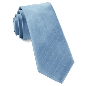 Steel Blue Herringbone Vow ties