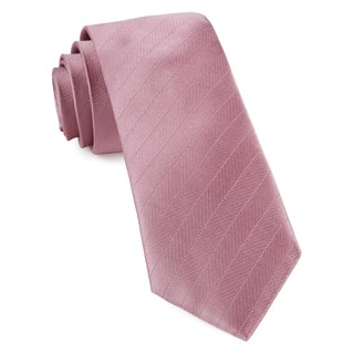 Herringbone Vow Dusty Rose Tie