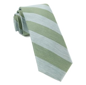 Rsvp Stripe Moss Green Ties