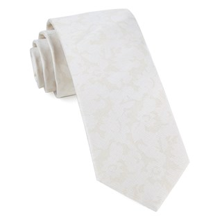 refinado floral light champagne ties